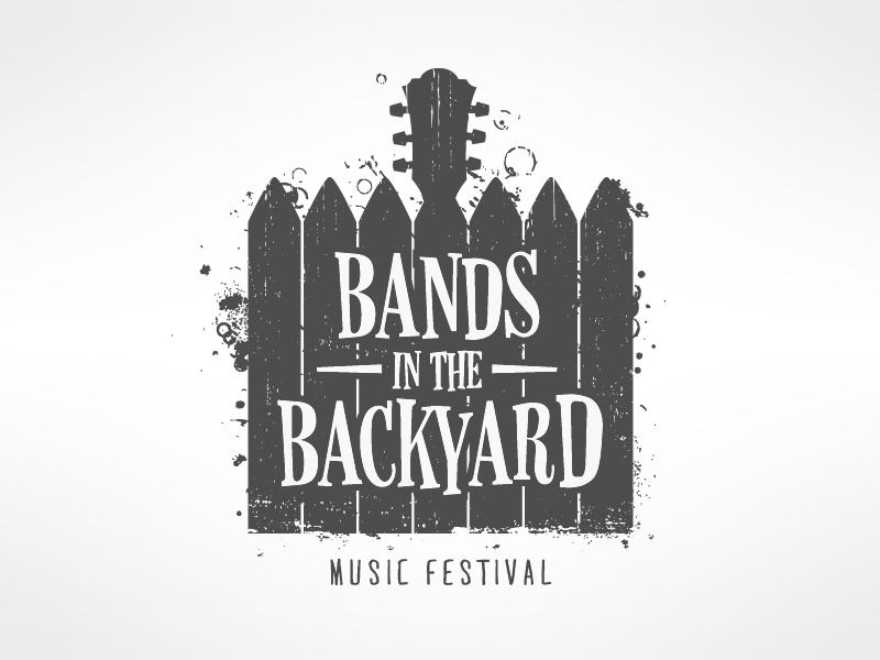 Bands In The Backyard. Logo